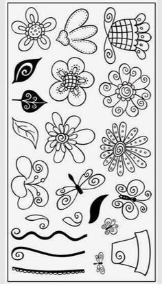 doodle by Molly Powers- these would be cool elements within zentangle Tangle Doodle, Doodles Zentangles, Zen Doodle, Doodle Art, Doodle Patterns, Zentangle Patterns, Doodle Borders, Silkscreen, Illustration Blume