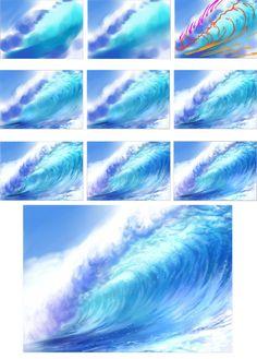 digital art tutorials – Art – Art is my life. Acrylic Painting Techniques, Painting Tips, Art Techniques, Painting & Drawing, Drawing Tips, Digital Painting Tutorials, Digital Art Tutorial, Art Tutorials, Waterfall Paintings