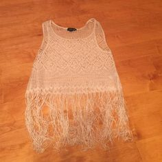 Fringe Ivory Top Mint condition Topshop Tops