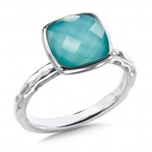 Sterling Silver Turquiose Fusion Ring For more information visit us at www.georgeandcodiamonds.com