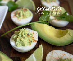 """""""URL""""(Guacamole Deviled Eggs Recipe http://recipingo.com/guacamole-deviled-eggs-recipe/)....I've gotta Try This!!...dc **URL for 'RECIPINGO,com' Site, & at 'Pinterest' site: ....These ALL are so very Nice sounding/looking!"""
