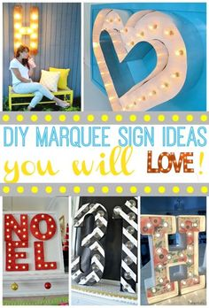How to Use Marquee Signs in Your Decorating