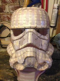 Stormtrooper Helmet ( on a Budget) : 7 Steps - Instructables Star Trek Cosplay, Cosplay Armor, Cosplay Diy, Star Wars Costumes, Diy Costumes, Pepakura Helmet, Storm Trooper Costume, Bike Challenge, Star Wars Crafts