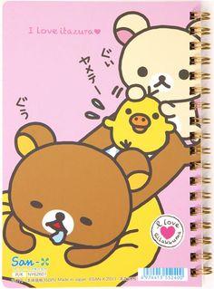 Rilakkuma Bear big ring binder notebook chick San-X