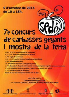 LO CARRANQUER: 7è Concurs de Carbasses Gegants i Mostra de la Terra de Sedó 2014