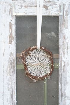 Rustic Wedding Ring Pillow Dreamcatcher Wreath by AirthandOlson