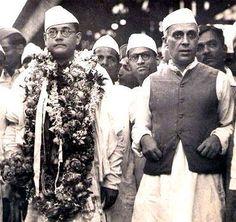 Subhash Chandra Bose with Pandit Nehru! #history #historypics #historypicture…