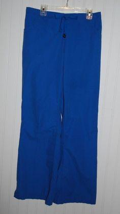 Carhartt Women's Small  Royal Blue Scrub Pants Elastic Drawstring Waist #Carhartt