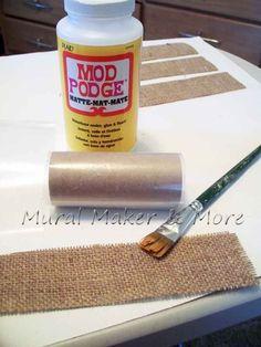 mod podge & TP rolls to make napkin rolls