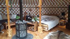 Inside the yurt 3