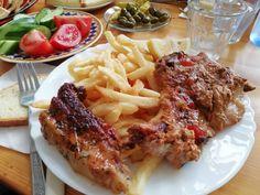 Oven baked steak, Evroula, Nicosia Cyprus