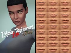 These are NOT makeup or overlay, they modify the original texture of the lips for all your female sims YA to E.  Found in TSR Category 'Sims 4 Skintones'