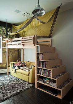 Kids room, bunk beds