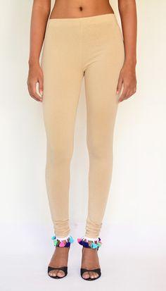 """""""Multi Color Tassel Hem"""" Cotton & Lycra Leggings – Full Length. Collect your Legging at https://www.estrolo.com/product-category/women/leggings/ #PomPomLeggings #leggings #StylishLeggingCollection #EstroloFashion"""