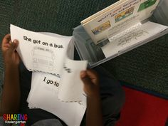 students reading in