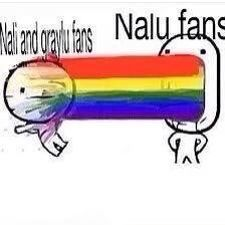 How Nalu fans feel... No, not just how we feel, but how it really is. We barf rainbows in the Nali and Graylu fans faces because of how many moments Nalu has... Take that. - COSPLAY IS BAEEE!!! Tap the pin now to grab yourself some BAE Cosplay leggings and shirts! From super hero fitness leggings, super hero fitness shirts, and so much more that wil make you say YASSS!!!