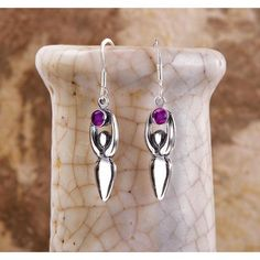 Spirit Healer Amethyst Earrings