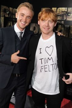 We love a bromance - and Rupert Grint and Tom Felton's is one of our faves.