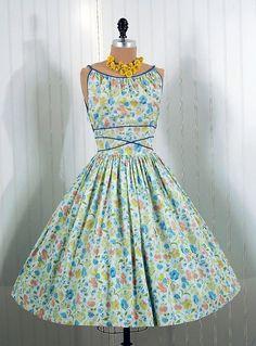 1950s dress via Timeless Vixen Vintage - a pastel dream garden
