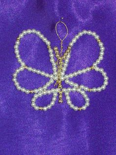 Butterfly Chrismon-style Ornament Bead Kit - heirloom quality beads. $6.00, via Etsy.