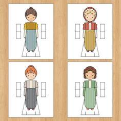 Jane Austen themed paper dolls by Mint Parcel. Nines de paper de Jane Austen
