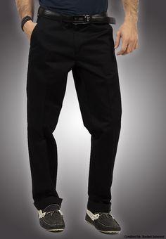 "Bien Habille IRONEEZEE Black ""Comfort Fit"" Wrinkle Free 100% Cotton Trouser Permanent Crease #men #style #fashion #menswear #Pants #Jeans #trousers #onlinemela www.onlinemela.pk Order Now: +92-334-333-6352"