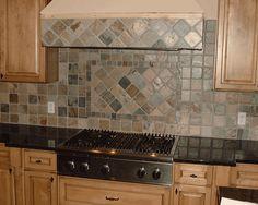 amazing slate kitchen backsplash photos - home design ideas