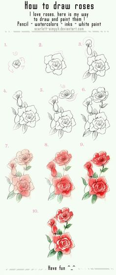 51 Ideas For Drawing Flowers Sketches Rose Tutorial Rose Sketch, Flower Sketches, Drawing Flowers, Flower Drawings, Tattoo Flowers, Painting Flowers, Rose Drawing Simple, Sketch Art, Plant Drawing