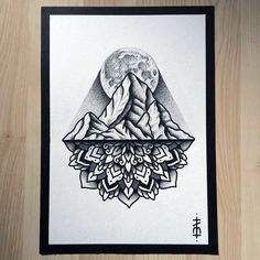 Mountain Mandala - defiantly gonna get something like this on my next snowboarding trip