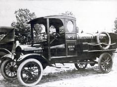 St. Louis Fire Department's 1919 Lord Model L Gasoline and Oil Supply Truck. Missouri History Museum photos & prints collection.