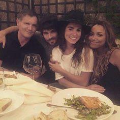 TVD Season 8 Dinner  - Kevin Williamson,  Ian Somerhalder,  Nikki Reed,  and Kat Graham
