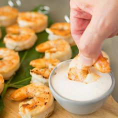 Grilled shrimp with ginger lemon dipping sauce. The perfect Summer appetizer.