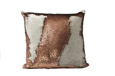 Mermaid Pillows change colors with the swipe of your hand. Comes in 3 sizes and 12 different color schemes! A great gift for all ages! Pillow filler/insert included.  Sequin Pillow Cover Shimmer Pillow Accent Pillow Sequined Polyester Chiffon front (light brown matte and cream sequins). White velvet back. Hidden zipper closure. Handcrafted in the USA. ++++++++++++++++++++++++++++ SIZES +++++++++++++++++++++++++++++++++ 20x20 inches 18x18 inches 10x12 inches  ++++++++++++++++++++++ CARE I...