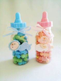 Homemade Baby Shower Party Favors | BABY SHOWER party favor. baby bottle party favor. baby girl party ...