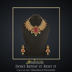 Our Vilandi Jewellery Set is a perfect Bridal Set for you this wedding season. Matching Bajuband, Hathphool, Damini & Maang Tikka can be provided on request. SKU Code - K531 MRP - Rs. 33790 Rent - Rs. 6000  #RentFashion #AntiqueJewellery #JewelleryOnRent #Jewellery #SriShringarRentsIt #BridesOfIndia #India #Mumbai #VileParleEast #Brides #IndianWeddings #Weddings #BridesMaids #RentJewllery #SummerJewellery #RentIt #Rent #Fashion #BridalLook #BridalAttire #Vilandi