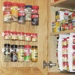 Organizer Cabinet Door Spice Rack 20 Clips