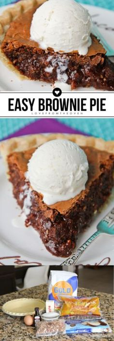 Easy Brownie Tar Heel Pie I've got a delicious chocolate brownie pie for you today that is easy and delicious. I first tried this pie, which is actually called Tar Heel Pie, last year when my brother...