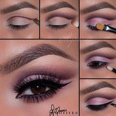 Gorgeous cut crease eye makeup