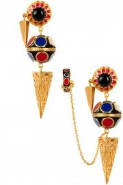 Manish Arora for Amarpali Amrapali Jewellery, Manish Arora, Pernia Pop Up Shop, Cuff Earrings, Anarkali, Lynx, Jewels, Enamels, Ear Rings