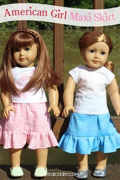 American Girl Doll clothes pattern to make a maxi skirt from realcoake.com