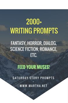 Cat got your tongue--err, Muse? Free up those words with a surf of the Saturday Story Prompt archives, where hundreds of prompts are waiting! Daily Writing Prompts, Essay Writing Tips, Story Prompts, Writing Process, Writing Advice, Writing Help, Writing A Book, Writing Ideas, Start Writing