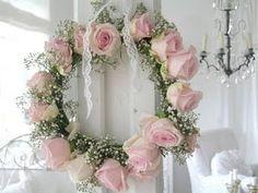 Shabby pink rose wreath