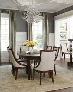 Dining room like the color and the drapery