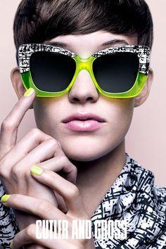 Cutler and Gross 1162 Mid Century Neon Laminate Sunglasses