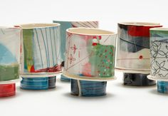 Elke Sada.  I've fallen for this blog where I discovered this ceramic work and which has other art and things I love!  http://thecolourofideas.blogspot.co.uk/