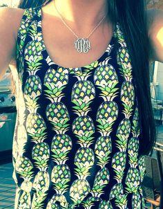Pineapple sleeveless blouse