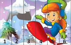 Cartoon kid doing freestyle slide Winter Activities For Kids, Teaching Numbers, Reward System, Cartoon Kids, Pre School, Christmas Time, Sonic The Hedgehog, Kindergarten, Clip Art