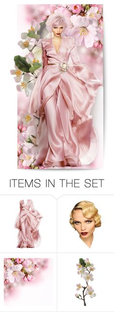 """""""I believe in pink"""" by collagette ❤ liked on Polyvore featuring art, Pink, doll, dollset and JuanDuyos"""