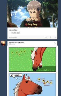I love the Attack on Titan and Legend of Zelda crossover. Too good! XD