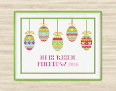 Easter Cross Stitch Pattern PDF spring Easter by TimeForStitch
